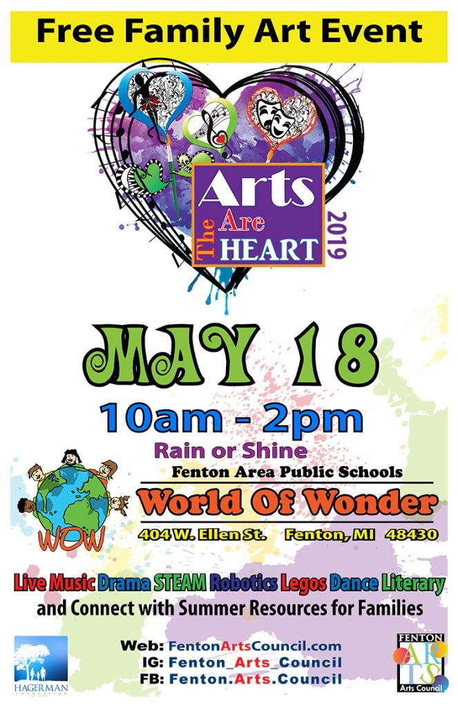 Arts in the Heart May 18th event Poster