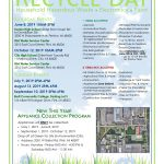 flyer providing information about recycle day in Genesee County