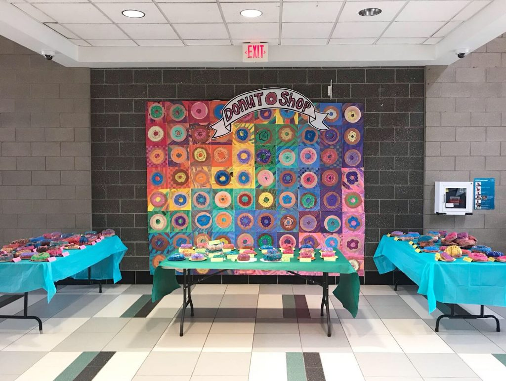 Donut Shop student art display