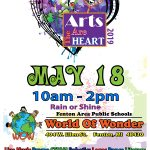 Arts in the heart event poster May 2019